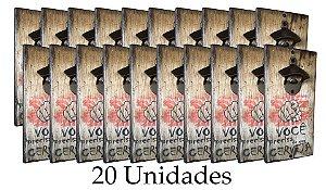 20 unidades do Abridor Rústico de Parede