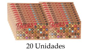 Porta tampinhas para 50 tampinhas - 20 unidades