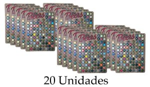 Porta tampinhas para 100 tampinhas - 20 unidades