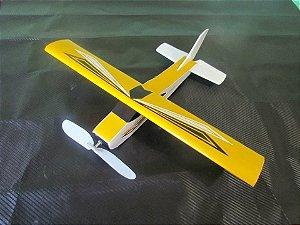 Aeromodelo CESSNA 210 Amarelo que voa até 60 metros