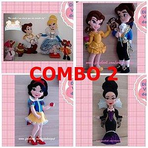 Combo 2 de apostilas digitais (Cinderela, Príncipe e 3 ratos, Bela e a Fera, Branca de Neve e Rainha Má)