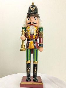 Boneco Quebra Nozes com corneta -  32 cm