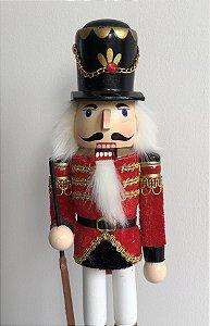 Soldado Quebra Nozes - 30 cm - vermelho/dourado