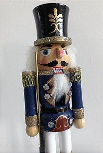 Soldado Quebra Nozes - 30 cm - azul/branco