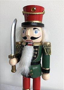 Soldado Quebra Nozes - 20 cm - verde