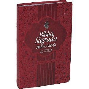 Bíblia Sagrada Harpa Cristã Letra Grande Almeida RC Vermelha