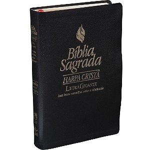 Bíblia Sagrada Harpa Cristã Letra Gigante Almeida RC Preta