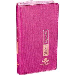 Bíblia Sagrada Capa com Zíper | Bíblia Carteira Feminina Pink