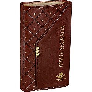 Bíblia Sagrada Carteira Marrom Almeida Revista e Atualizada