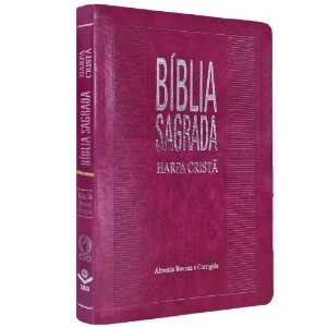 Bíblia Sagrada Harpa Cristã Letra Grande Almeida RC Bordo