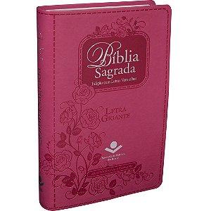 Bíblia Sagrada Letra Gigante e Índice Digital Pink Almeida RC