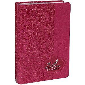 Bíblia Sagrada Letra Gigante Almeida RA Pink Luxo