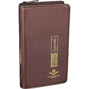 Bíblia Sagrada Carteira Almeida Revista e Atualizada Marrom