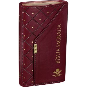 Bíblia Sagrada Carteira Almeida Revista e Atualizada Vinho