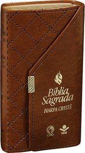 Bíblia Sagrada Carteira com Harpa Cristã Marrom