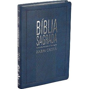 Bíblia Sagrada com Harpa Almeida Revista e Corrigida Azul