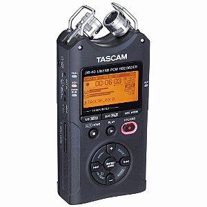 Gravador De Áudio Tascam Dr-40 - Profissional - 4 Canais