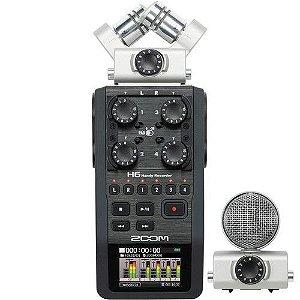 Gravador De Áudio Zoom H6 Handy Recorder - 6 Canais