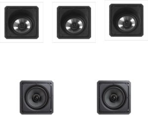 "KIT 5.0 HOME THEATER CAIXA QUADRADA DE 6"" 2 VIAS 120W"