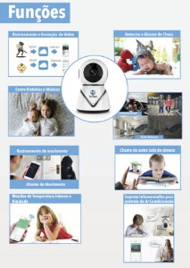 Câmera Inteligente Babá Eletrônica