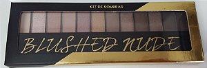 Kit Maquiagem 12 Cores c/ Fixador - Blushed Nude