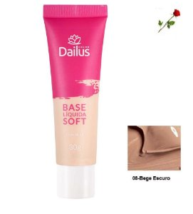 Base Matte Soft Dailus 08 Bege Escuro