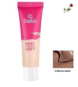 Base Matte Soft Dailus 12 Marrom Médio