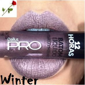 Batom Liquido Matte 12 horas Dailus Winter