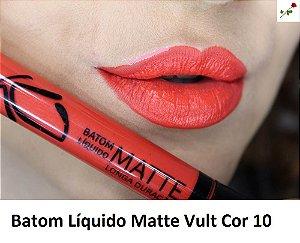 Batom Liquido Matte Cor 10 Vult