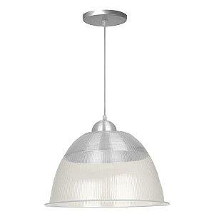 Kit 2 Luminárias Prismática Com Pendente De 12 Polegadas CRYSTAL
