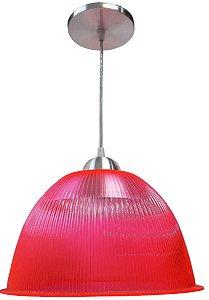 Luminária Prismática Pendente De 12 Polegadas Fluorescente