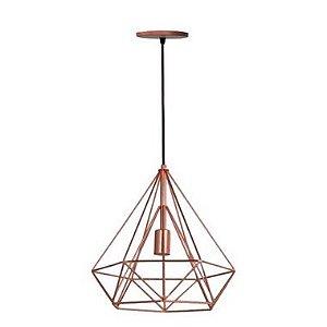 Pendente Piramide Cobre + 1 Pendente Sputnik Cobre