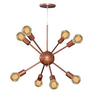 Lustre Pendente Moderno Sputnik Para 8 Lâmpadas