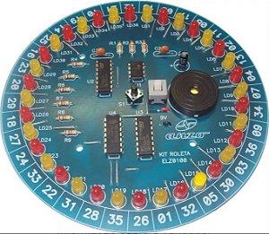 Kit de Eletrônica Didático para Montar  - Roleta de leds
