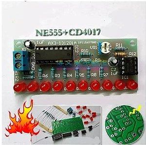 Kit de Eletrônica Didático para montar - Sequencial de leds