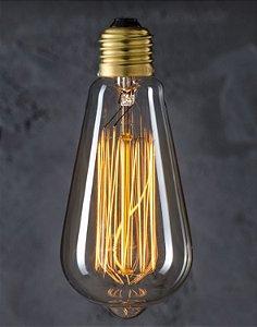 Lâmpada Bulbo 40w Filamento Carbono Vintage St64 Thomas Edison 127v