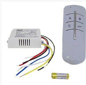 Controle Remoto Para Lâmpadas com 3 saídas - Kit para Automação Residencial