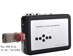 Conversor E Leitor Fita Cassete K7 Para Mp3 Usb P/ Pen Drive