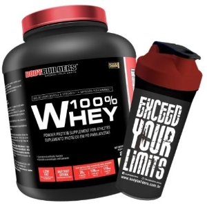 100% Pure Whey Protein 2kg + Shaker - Bodybuilders