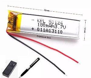 Bateria para botão espião e caneta espiã 3.7v