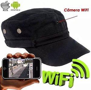 Boné Espião Wifi - Ip Câmera Escondida Espionagem