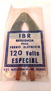 Resistência de ferro elétrico antigo 127 volts tamanho médio