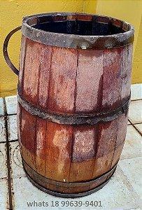 Balde de água Antigo Em Madeira - Anos 40 - Antiguidade Barril