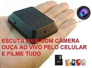 Escuta GSM - Filmadora - Usa chip de celular - Versão 5.0