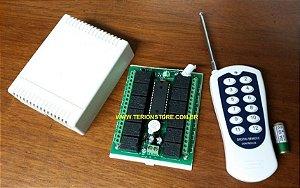 Kit para Automação Residencial Controle com 12 saídas