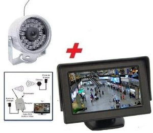 Mini Câmera Noturna Infravermelho Sem Fio Wireless Com Monitor CFTV