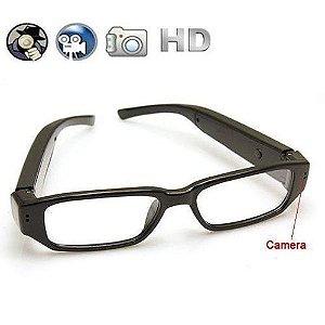 Óculos Filmadora Espião com câmera Discreto Social