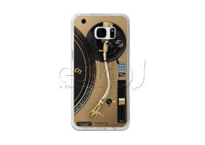 Capa de celular para DJ modelo Samsung Galaxy S7 - Toca Discos Pioneer Dourado PLX-1000n