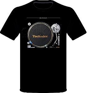 Camisetas para DJ Modelo Technics Toca Discos SL-1200GAE - Preta