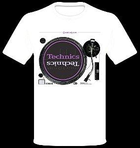 Camisetas para DJ Modelo Technics Toca Discos SL-1210MK2 - Branca